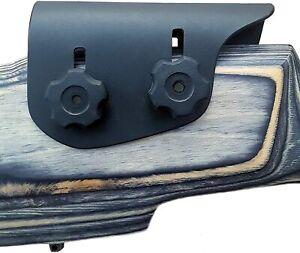 "Black Kydex Adjustable Cheek Rest Stock Riser .060"" For Scoped Rifle"