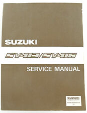 SY413 SY416 Suzuki car large factory workshop manual published 1995
