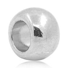 100 Bigiotteria Distanziatori Perle Perline Tono Argento 6x5mm