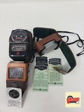 3 Vintage General Electric GE Exposure Meter Light Values W Case and color reels