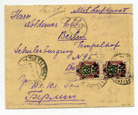 Russia 1923 Registered Air Mail Cover Moscow to Berlin Scarce