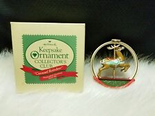 1987 Hallmark Keepsake Ornament Collector's Club Carousel Reindeer (Nib)