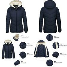 Wantdo Women's Winter Coats Hooded Windproof Warm Puffer Jacket with Fleece Hood