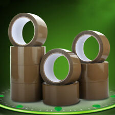 1Roll Strong Sticky Sealing Shipping Box Carton Brown Parcel Packaging Tape 50M
