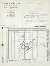 LE HAVRE FACTURE CAFES LABRADOR EPICERIE BOUGON-DUTOT SAINT-PIERRE-EN-PORT 1959