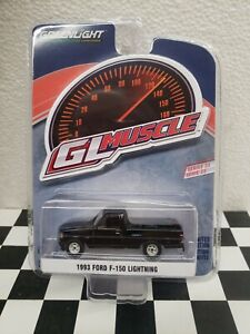 1993 1/64 Ford f150 XLT LIGHTNING GL MUSCLE 2WD 4x4 Truck Greenlight  SHOTBED