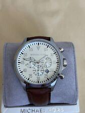 Brand New Michael Kors Gage Chronograph Brown Leather Men's Watch MK8441