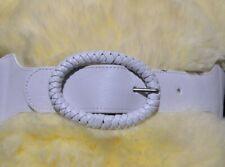 """LADIES white elastic belt 2.5"""" wide 33"""" long"""