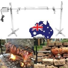 Rotisserie Grill Spit BBQ Motor 70KG Whole Lamb Pig Hog Camping Roaster Rod Kit