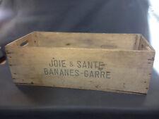 Ancienne caisse bois Joie et Santé Bananes Garre déco rangement vintage cuisine
