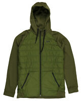 NIKE Therma Winterized Hooded Jacket sz L Large Olive Green Therma-FIT Hoodie