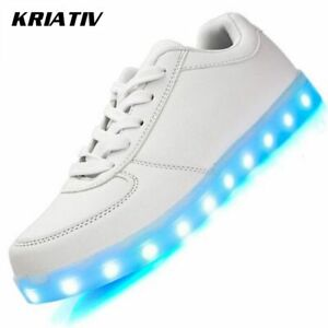 Luminous Sneakers For Girls&boys Light Up Usb Charging Led Shoes