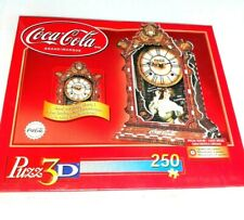 Vintage Coca Cola Puzzle Clock 3D 250pc Working Quartz Clock New Sealed 2002