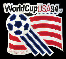 "1994 WORLD CUP SOCCER TEAM USA HUGE 16.5"" VINTAGE SOUVENIR JACKET PATCH"