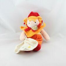 Doudou et compagnie clown rouge orange mouchoir do ré mi fa - Clown Mouchoir