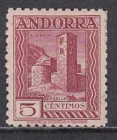 Andorra Española Variedades 1935 Edifil 29ec ** Mnh