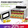 6 Tray Food Dehydrator Stainless Steel Fruit Jerky Dryer Blower Commercial US