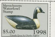 MASSACHUSETTS #25 1998 STATE DUCK CANADA GOOSE DECOY by Bob Piscaton