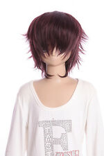 W-01-99j Marrone Brown 35cm breve Cosplay Parrucca Wig Perruque capelli ANIME MANGA