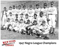 1947 Negro League World Series Champion New York Cubans Team Pic 8 X 10  Photo