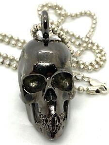 """Lazaro Diaz Soho Skull Joker Large pendent On Sterling Silver Chain 30"""""""