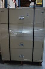 "Fireking 4 Drawer Lateral Fireproof File Cabinet 45"" W x 22"" D x 53"" H Beige"