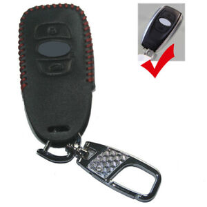 Genuine Leather Smart Car Key Case Cover For Subaru OUTBACK 16 Legacy Shell key