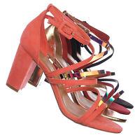 Striking32 Chunky Block High Heel Strappy Sandal - Women Gladiator Open Toe