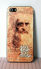 HARD COVER CASE FOR IPHONE 5  STAY HUNGRY STAY FOOLISH ITALIAN DESIGN CELEBRATIV