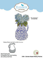 Elizabeth Craft Designs 1294 - GARDEN NOTES POTTERY PITCHER Steel Die