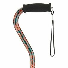NOVA Medical Products Designer Cane with Offset Handle, Green Paisley