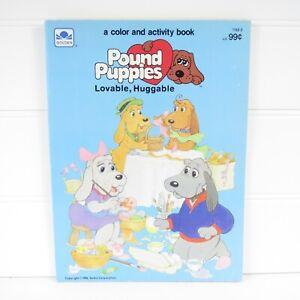 POUND PUPPIES - VINTAGE 1986 GOLDEN COLORING & ACTIVITY BOOK - UNUSED
