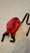 Toddlers ladybird reins backpack