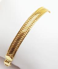 18k solid gold Milor bracelet with lobster clasp #b2