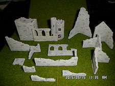 n gauge scale railway train set layout grey ruins