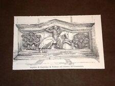 Sepolcro Guglielmo di Narbona nel Chiostro Annunziata