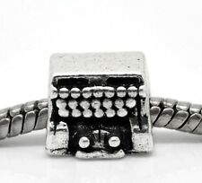 Typewriter Author Writer Retro Office Press Reporter Charm for European Bracelet