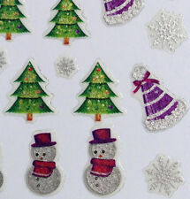 Nail Art 3D Sticker Glitter Holidays Decal Snowman Christmas Tree Snowflake 50pc