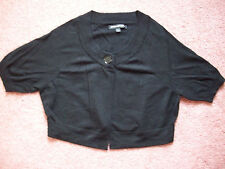 Women's Crop Sweater Express Design Studio Black Large Rayon Blend Solid