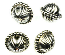 6 Antique Silver Beaded Round Plastic Beads 23MM