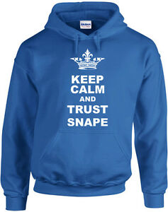 Keep Calm And Trust Snape, Harry Potter inspired Printed Hoodie