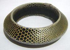Gran Pulsera Brazalete De Estilo Grueso Estilo De Piel De Serpiente Aprox 2 1/2 INS amplia