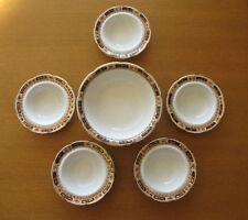 Vintage Ceramic 6 Bowl Dish Set, 'Penrhyn' Solian Ware Soho Pottery Cobridge
