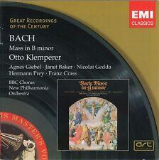 "CD x 2 EMI 7243 4 76814 2 4 Bach ""Mass in B minor"" Baker, Gedda; Otto Klemperer"