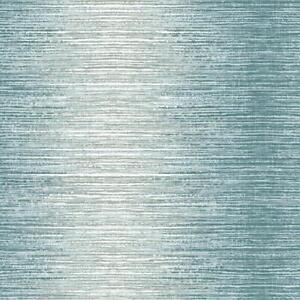 Holden Arlo Teal Ombre Stripe Wallpaper Lines White Silver Metallic Shimmer