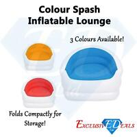 Colour Splash Inflatable Lounge Chair - Pool Seat Couch Sofa Gaming Camping