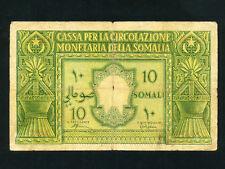 Italian Somaliland/Italy:P-13,10 Somali,1950 * F * RARE *