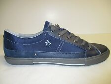 Original Penguin Size 13 QUEST Blue Leather Fashion Sneakers New Mens Shoes