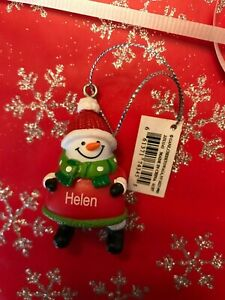 Ganz Jolly Jingles Snowman Christmas Ornament - Personalized HELEN