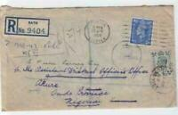 england 1950 registered  multi stamps and poster stamp cover ref r14553